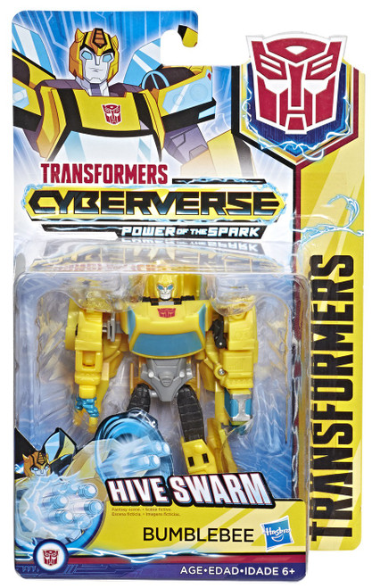 Transformers Cyberverse Power of the Spark Bumblebee Warrior Action Figure [Hive Swarm, Warrior Version]