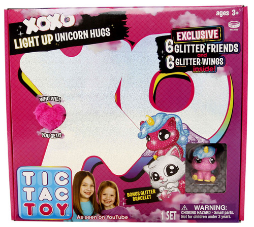 Tic Tac Toy XOXO Light Up Unicorn Hugs Mystery Set [Pink]