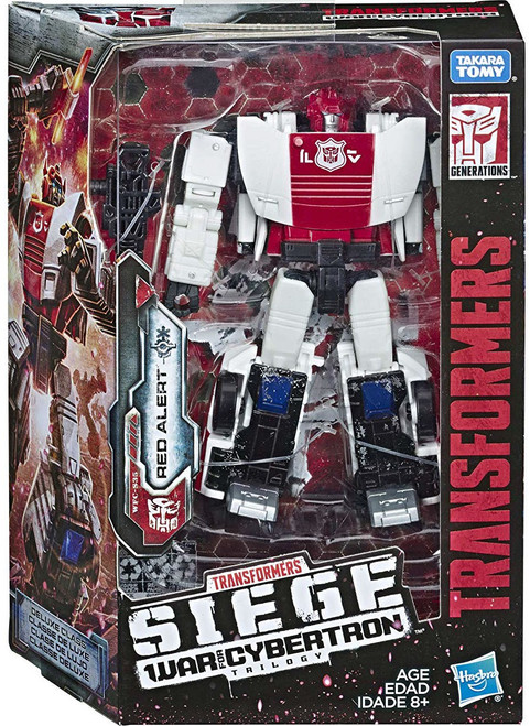 Transformers Generations War for Cybertron: Siege Red Alert Deluxe Action Figure WFC-S35