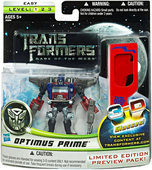Transformers Dark of the Moon Cyberverse Deluxe Optimus Prime Deluxe Action Figure [With 3-D Glasses]