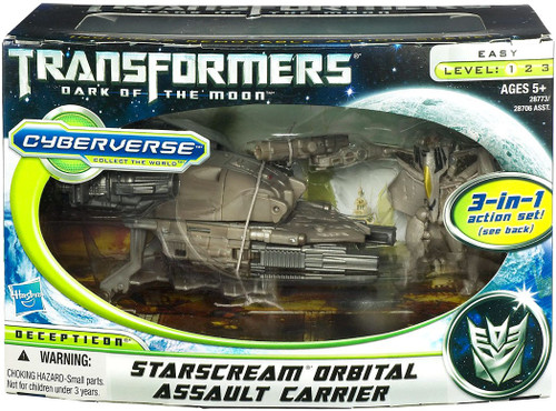 Transformers Dark of the Moon Cyberverse Starscream Orbital Assault Carrier Action Figure Set