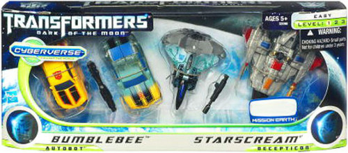 Transformers Dark of the Moon Cyberverse Bumblebee vs. Starscream Exclusive Legion Action Figure Set