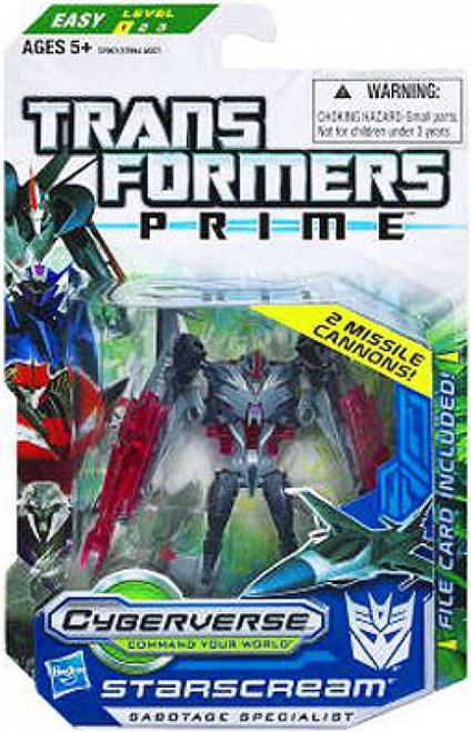 Transformers Prime Cyberverse Commander Starscream Commander Action Figure