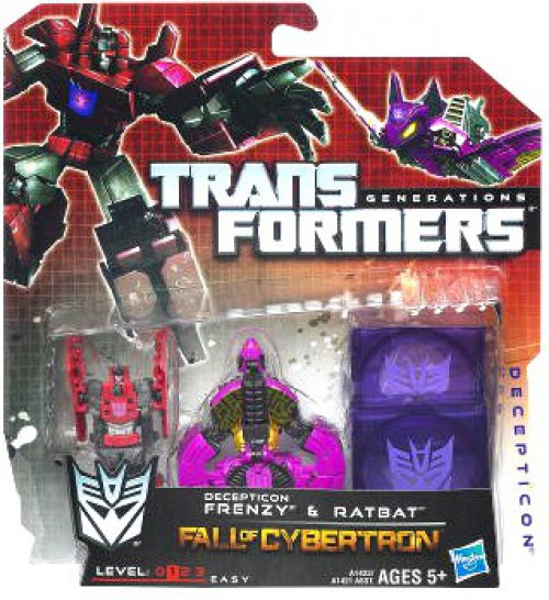 Transformers Generations Fall of Cybertron Legends Decepticon Frenzy & Ratbat Legend Action Figure 2-Pack