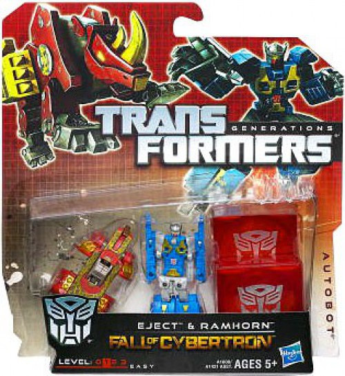 Transformers Generations Fall of Cybertron Legends Eject & Ramhorn Legend Action Figure 2-Pack