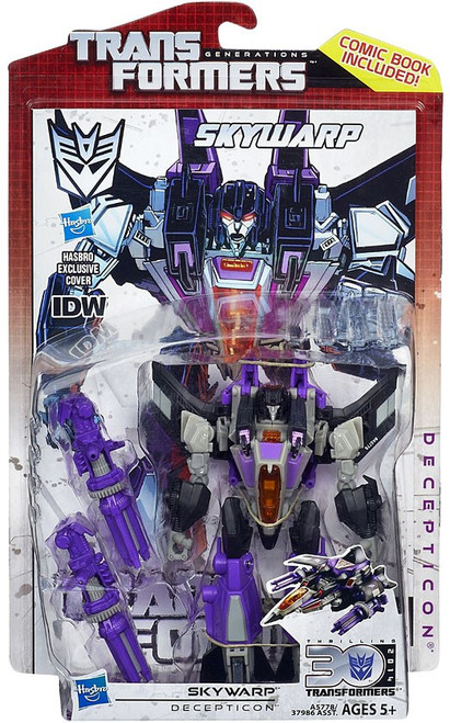 Transformers Generations 30th Anniversary Deluxe IDW Skywarp Deluxe Action Figure
