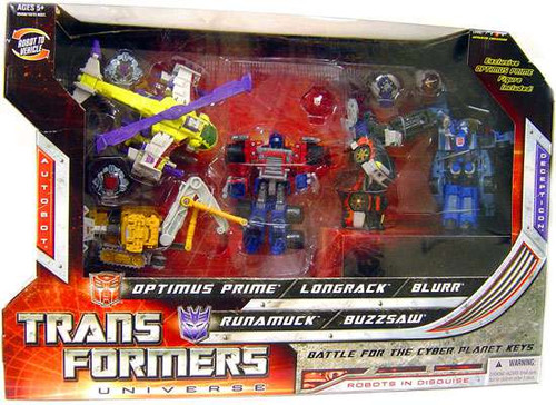 Transformers Universe Battle for the Cyber Planet Keys Exclusive Action Figure 5-Pack [Damaged Package]