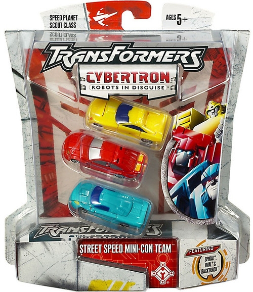 Transformers Cybertron Street Speed Mini-Con Team Scout Action Figure Set [Damaged Package]