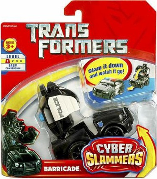 Transformers Cyber Slammers Barricade Action Figure [Damaged Package]