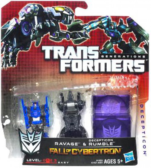 Transformers Generations Fall of Cybertron Legends Ravage & Decepticon Rumble Legend Mini Figure 2-Pack [Damaged Package]