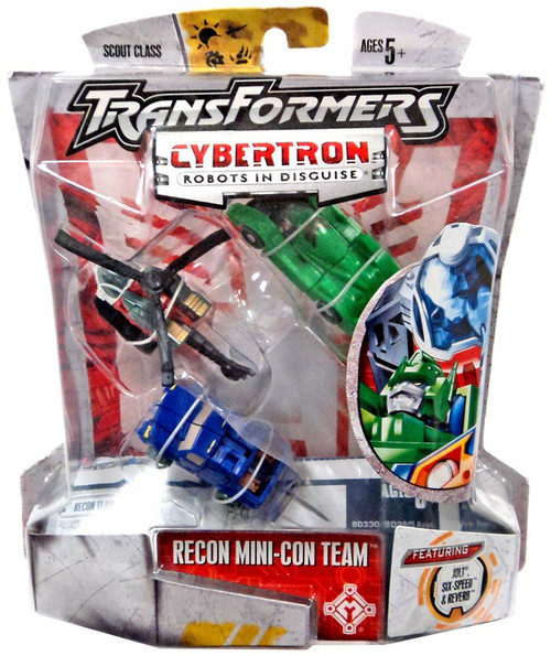 Transformers Cybertron Primus Unleashed Scout Recon Mini-Con Team Scout Action Figure [Jolt, Six-Speed & Reverb]
