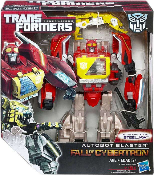 Transformers Generations Fall of Cybertron Autobot Blaster Voyager Action Figure [Damaged Package]