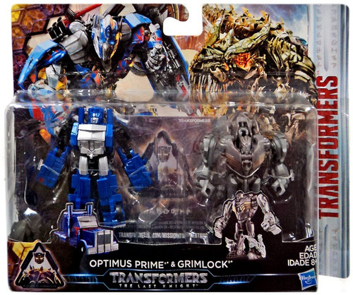 Transformers The Last Knight Mission to Cybertron Optimus Prime & Grimlock Exclusive Action Figure 2-Pack