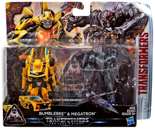 Transformers The Last Knight Mission to Cybertron Bumblebee & Megatron Exclusive Legion Action Figure 2-Pack