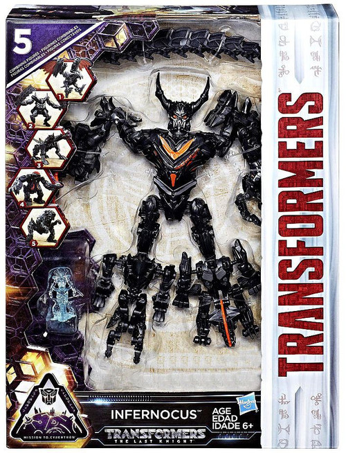 Transformers The Last Knight Mission to Cybertron 5 Bot Combiner Infernocus Exclusive Action Figure