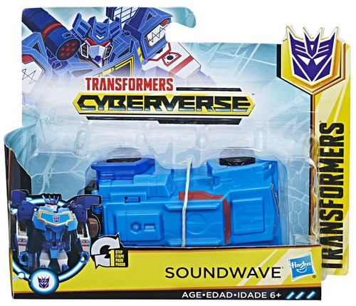 "Transformers Cyberverse 1 Step Changer Soundwave 4.25"" Action Figure"