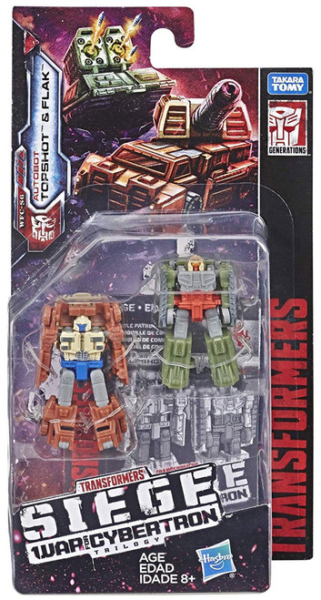 Transformers Generations War for Cybertron: Siege Topshot & Flak Micromaster Action Figure 2-Pack WFC-S6 [Autobot Battle Patrol]