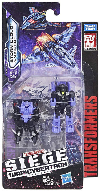 Transformers Generations War for Cybertron: Siege Storm Cloud & Visper Micromaster Action Figure 2-Pack WFC-S5 [Decepticon Airstrike Patrol]