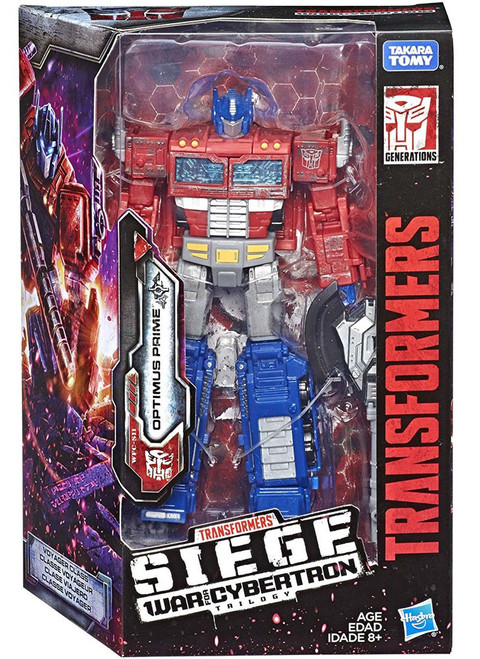 Transformers Generations War for Cybertron: Siege Optimus Prime Voyager Action Figure WFC-S11