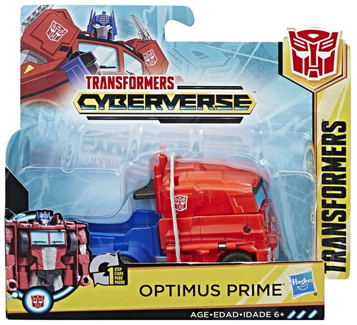 """Transformers Cyberverse 1 Step Changer Optimus Prime 4.25"""" Action Figure [2018]"""