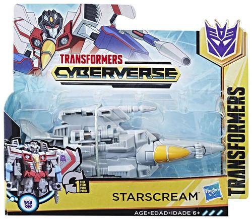 "Transformers Cyberverse 1 Step Changer Starscream 4.25"" Action Figure"