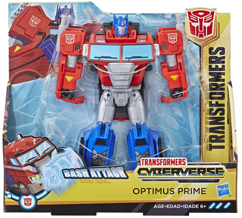 Transformers Cyberverse Optimus Prime Ultra Action Figure [Bash Attack]