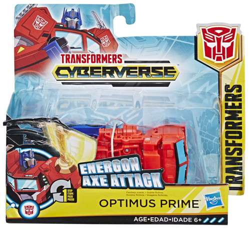 """Transformers Cyberverse 1 Step Changer Optimus Prime 4.25"""" Action Figure [Energon Axe Attack]"""