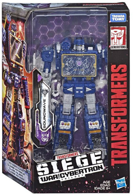 Transformers Generations War for Cybertron: Siege Soundwave Voyager Action Figure WFC-S25