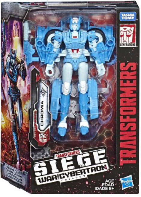 Transformers Generations Siege: War for Cybertron Trilogy Chromia Deluxe Action Figure WFC-20