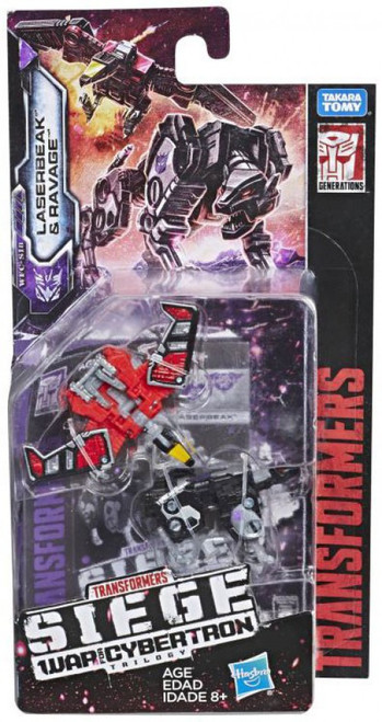 Transformers Generations Siege: War for Cybertron Trilogy Laserbeak & Ravage Micromaster Action Figure 2-Pack WFC-S18 [Soundwave Spy Patrol]