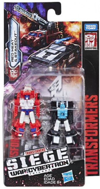 Transformers Generations War for Cybertron: Siege Red Heat & Stakeout Micromaster Action Figure 2-Pack WFC-S19 [Autobot Rescue Patrol]