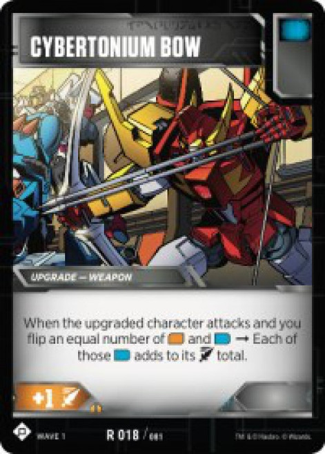 Transformers Trading Card Game Wave 1 Rare Cybertonium Bow #018