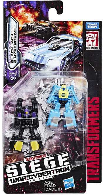 Transformers Generations War for Cybertron: Siege Blackjack & Hyperdrive Micromaster Action Figure 2-Pack WFC-S32