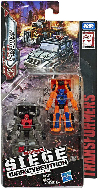 Transformers Generations Siege: War for Cybertron Trilogy Powertrain & Highjump Micromaster Action Figure 2-Pack WFC-S33
