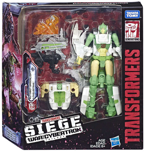Transformers Generations Siege: War for Cybertron Trilogy Autobot Greenlight & Dazlestrike Exclusive Deluxe Action Figure WFC-S15
