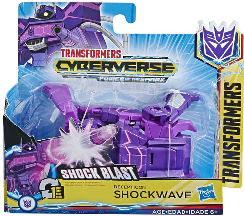 "Transformers Cyberverse Power of the Spark 1 Step Changer Shockwave 4.25"" Action Figure [Shock Blast]"