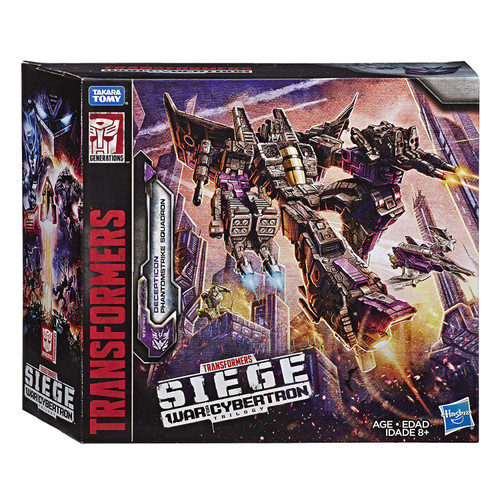 Transformers Generations Siege: War for Cybertron Trilogy Decepticon Phantomstrike Squadron Exclusive Voyager & Battle Master Action Figure 4-Pack [Skywarp Plus 3x Battle Masters: Shrute, Fracas & Terror-Daxtyl]