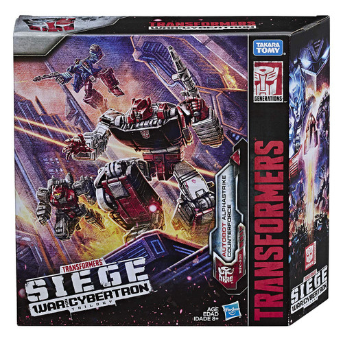 Transformers Generations Siege: War for Cybertron Trilogy Autobot Alphastrike Counterforce Exclusive Action Figure 3-Pack [Slamdance, Clone Sideswipe & Tranchfoot]