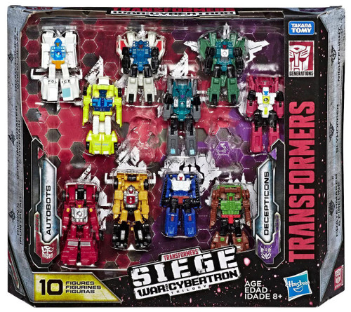 Transformers Generations War for Cybertron: Siege Autobots vs Decepticons Exclusive Micromaster Action Figure 10-Pack