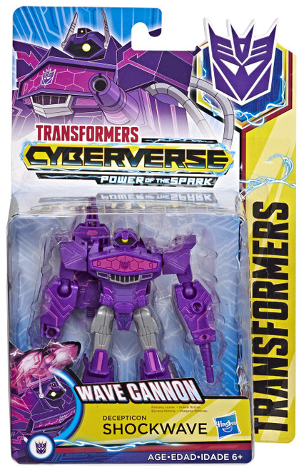 Transformers Cyberverse Power of the Spark Shockwave Warrior Action Figure [Wave Cannon]