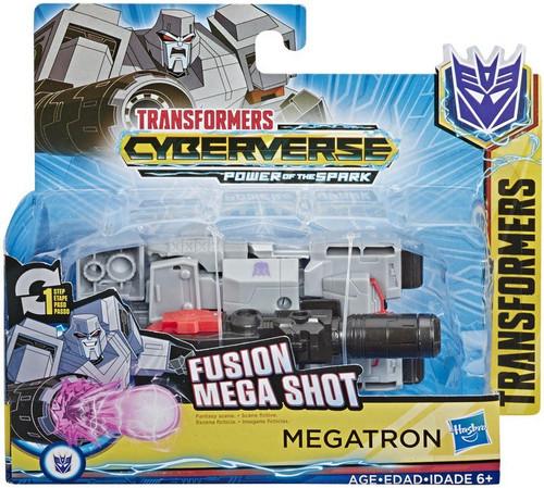 "Transformers Cyberverse Power of the Spark 1 Step Changer Megatron 4.25"" Action Figure [Fusion Mega Shot]"