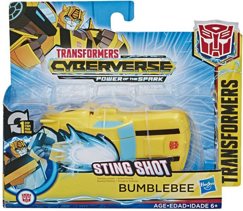 """Transformers Cyberverse Power of the Spark 1 Step Changer Bumblebee 4.25"""" Action Figure [Sting Shot]"""
