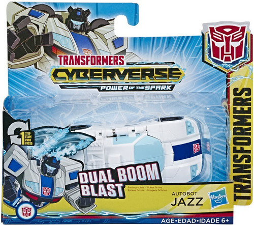 """Transformers Cyberverse Power of the Spark 1 Step Changer Jazz 4.25"""" Action Figure [Dual Boom Blast]"""