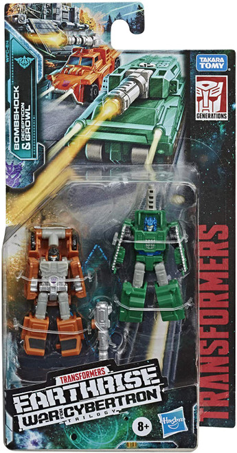 Transformers Generations War for Cybertron: Earthrise Bombshock & Decepticon Growl Micromaster Action Figure 2-Pack WFC-E4 [Military Patrol]