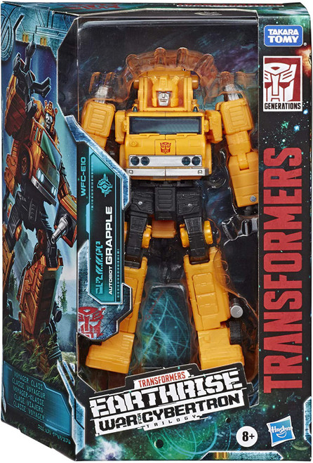 Transformers Generations Earthrise: War for Cybertron Trilogy Autobot Grapple Voyager Action Figure WFC-E10