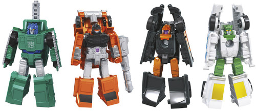 Transformers Generations Earthrise: War for Cybertron Trilogy Autobot Daddy-O, Trip-Up, Bombshock, & Decepticon Growl Micromaster Set of 4 Action Figures (Pre-Order ships May)