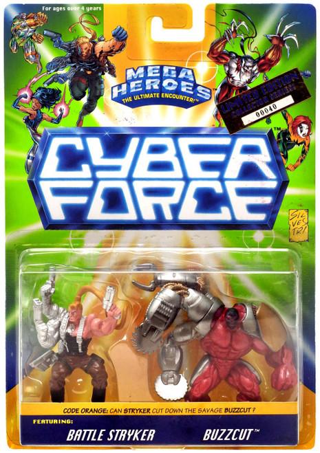 Mega Heroes Cyber Force Battle Stryker & Buzzcut Figure 2 Pack