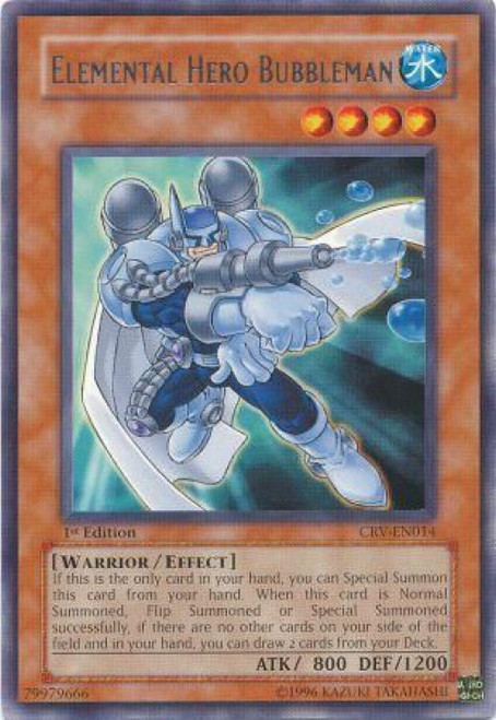 YuGiOh Cybernetic Revolution Rare Elemental Hero Bubbleman CRV-EN014