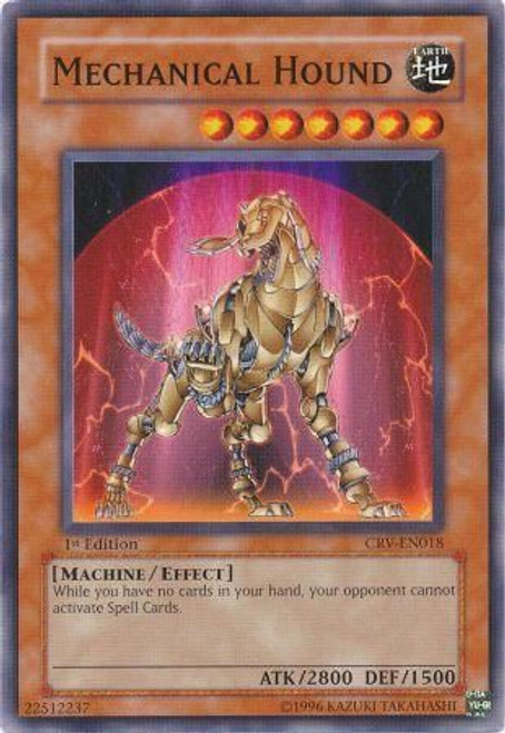 YuGiOh Cybernetic Revolution Common Mechanical Hound CRV-EN018