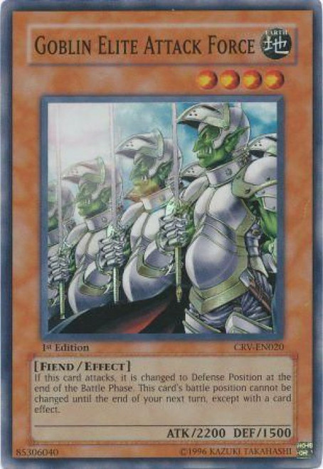 YuGiOh Cybernetic Revolution Super Rare Goblin Elite Attack Force CRV-EN020